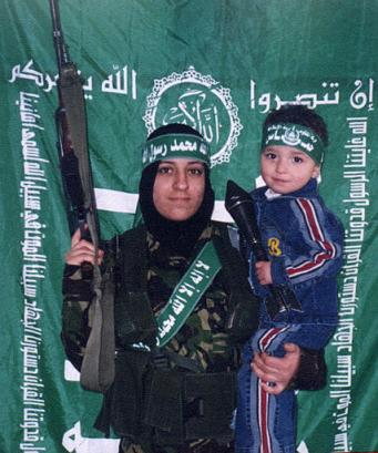 Radical Islam terrorist children strapped with bombs