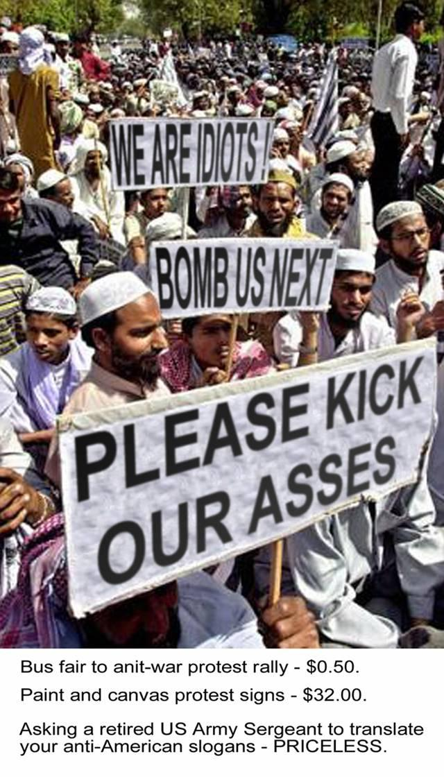 Doctored signs Muslim